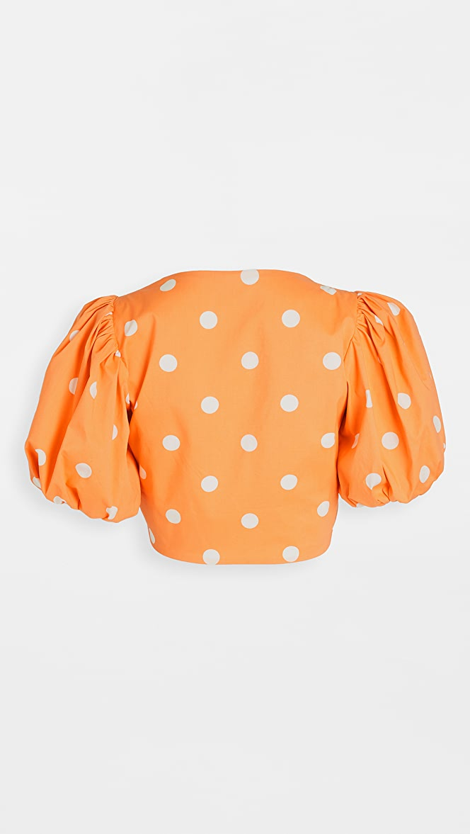 For Love /& Lemons Womens Auburn Dot Crop Top