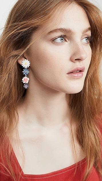 For Love & Lemons Hollyhock Drop Earrings