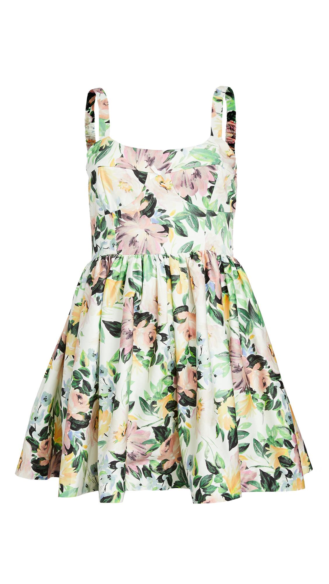For Love & Lemons Sage Party Dress