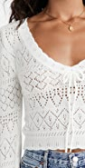 For Love & Lemons Blanca Crochet Sweater