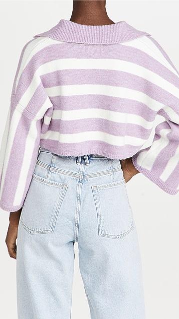 For Love & Lemons Maud Boxy Crop Sweater