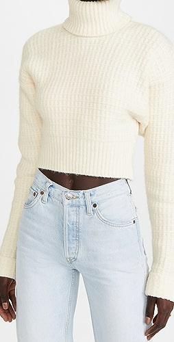 For Love & Lemons - Madeline Turtleneck Crop Sweater
