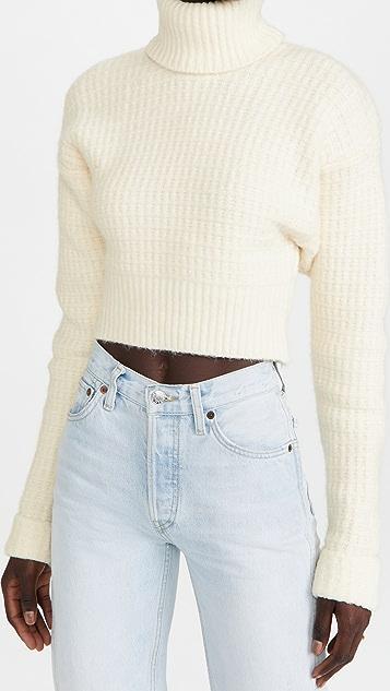 For Love & Lemons Madeline Turtleneck Crop Sweater