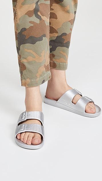 Freedom Moses 双带凉拖鞋