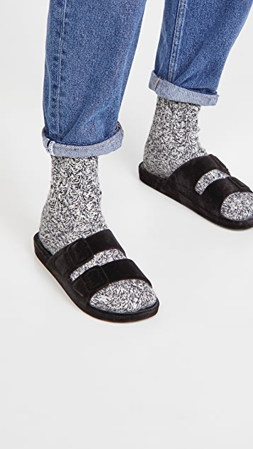 Freedom Moses Velvet Moses 双带凉拖鞋