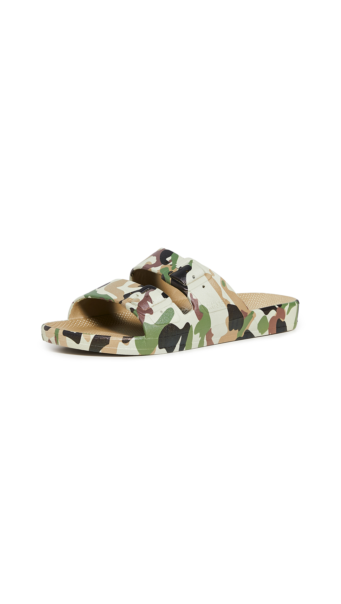 Freedom Moses Army Khaki Two Band Slides