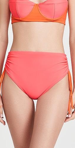 Fe Noel - High Waist Bikini Ruched Bottoms