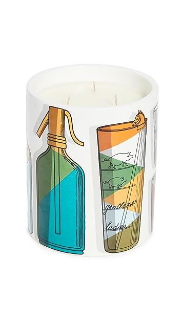 Fornasetti Ароматическая свеча Fornasetti с изображением коктейля
