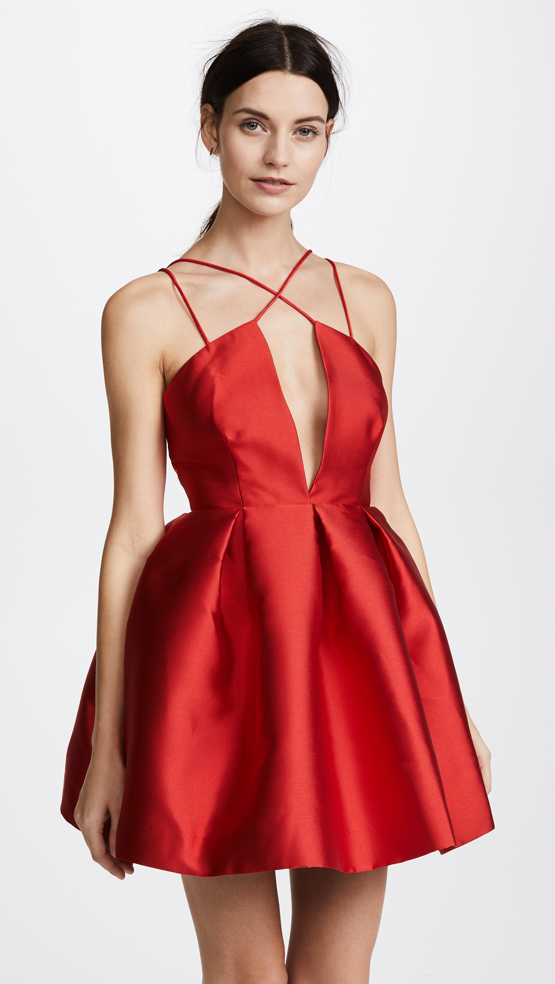 Loving this dress with a plunging neckline