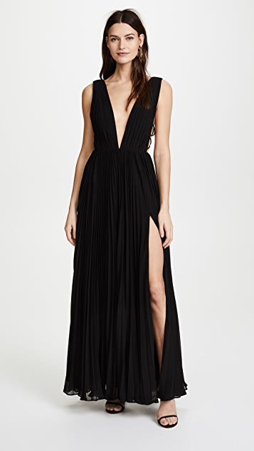 Gorgeous plunge neck black dress