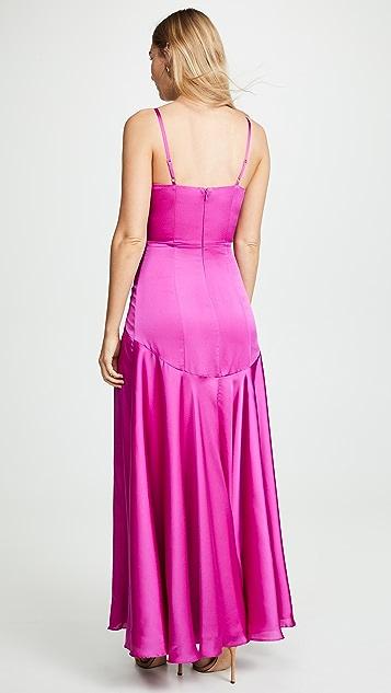 Fame and Partners Вечернее платье с открытой спиной и V-образным вырезом