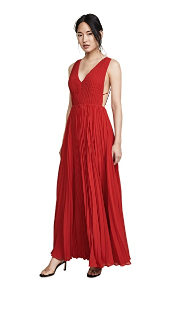 Fame and Partners Multi Strap Pleated Gown