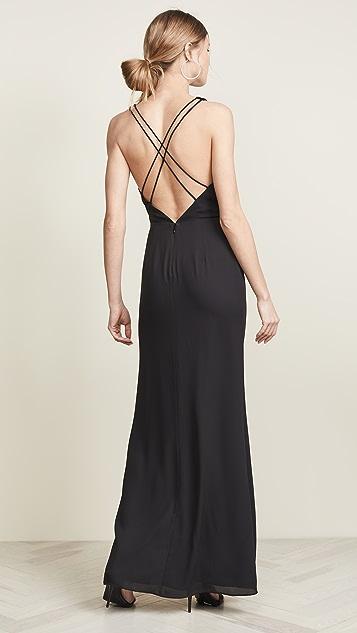 Fame and Partners Платье с высоким разрезом до бедра