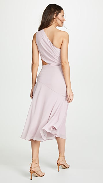 Fame and Partners One Shoulder Draped Dress