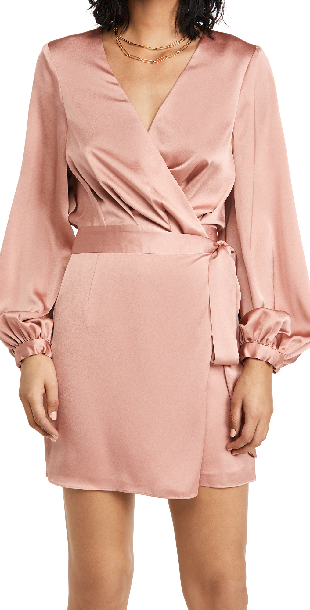 Fame and Partners The Blouson Sleeve Wrap Dress