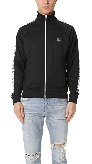 0e68d6dae Fred Perry Laurel Wreath Tape Track Jacket