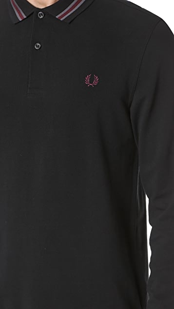Fred Perry Bomber Stripe Collar Polo Shirt