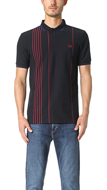 Fred Perry Vertical Stripe Pique Shirt