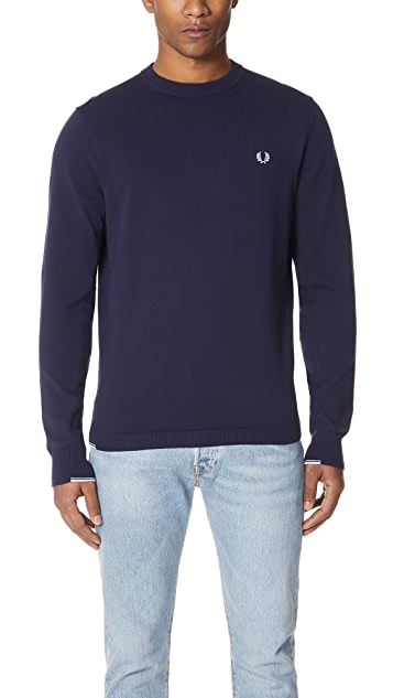 Fred Perry Twin Tipped Crew Neck Sweater