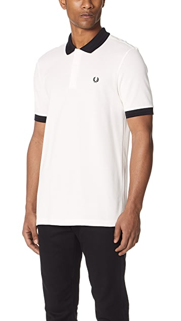 Fred Perry Matt Tipped Collar Pique Shirt