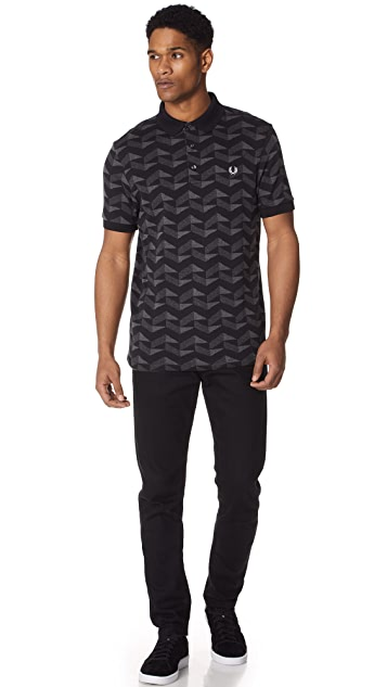 Fred Perry Graphic Jacquard Pique Shirt