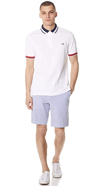 Fred Perry Contrast Collar Pique Shirt