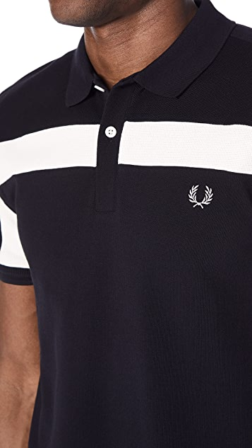 Fred Perry Textured Panelled Pique Shirt