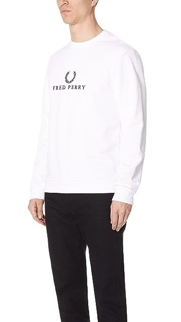 Fred Perry Monochrome Tennis Sweatshirt