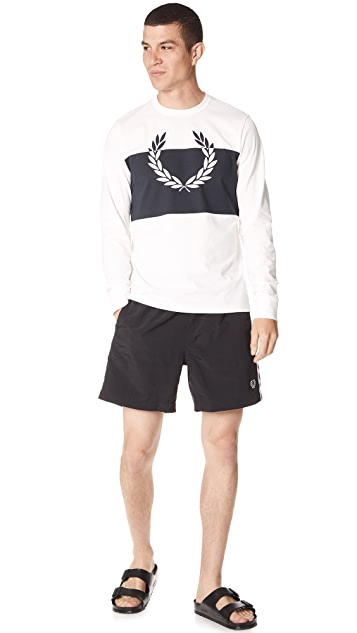 Fred Perry Taped Swim Trunks