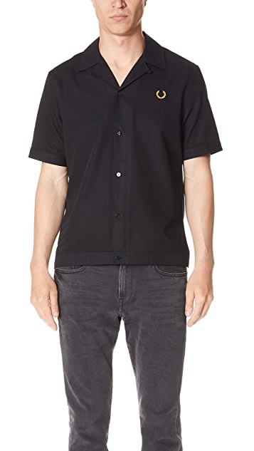 7395bbd44 Fred Perry Miles Kane Bowling Shirt ...