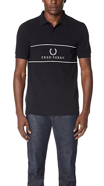 Fred Perry Panel Piped Polo Shirt