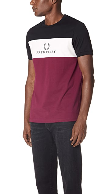 Fred Perry Panel Embroidered T-Shirt