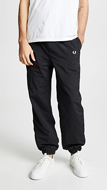 Monochrome Shell Trousers by Fred Perry