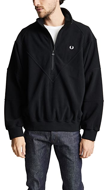 Fred Perry Monochrome Half-Zip Fleece Pullover