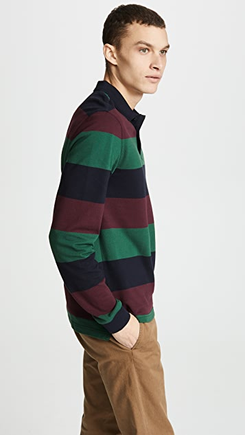 Fred Perry Enlarged Stripe Pique Shirt