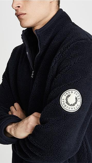 Fred Perry Borg Zip-Through Fleece Jacket