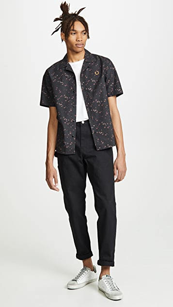 Fred Perry Liberty Print Bowling Shirt