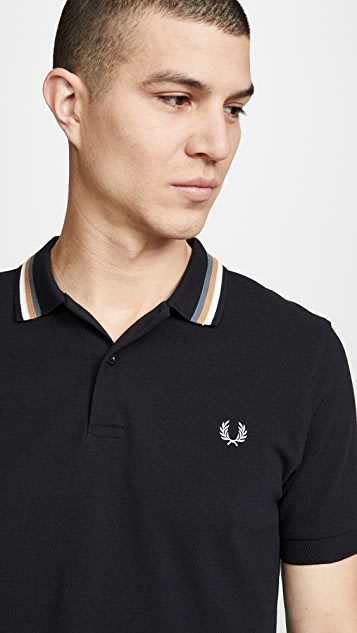 Fred Perry Bomber Stripe Pique Shirt