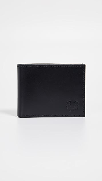 Fred Perry Leather Billfold Wallet