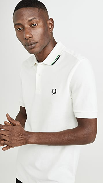 Fred Perry Asymmetric Tipped Polo Shirt