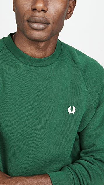 Fred Perry Winter Training Laurel Wreath Crew Neck Sweatshirt