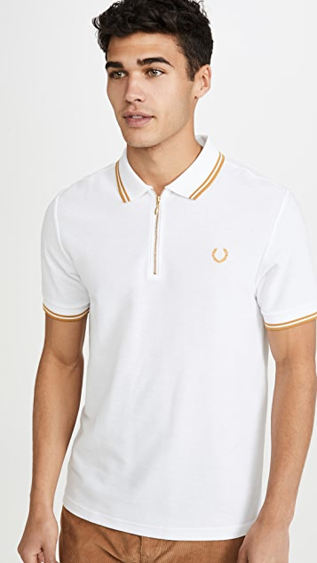 Fred Perry Miles Kane Quarter Zip Polo Shirt