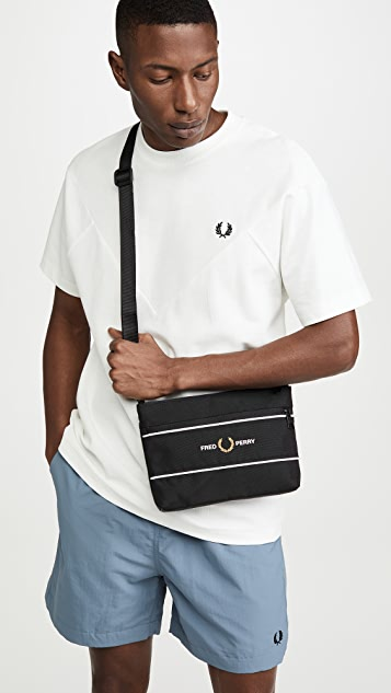 Fred Perry Graphic Panel Flat Crossbody Bag