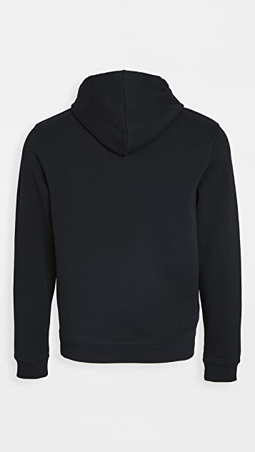 Fred Perry Embroidered Panel Hooded Sweatshirt