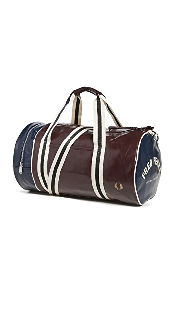 Fred Perry Colorblock Classic Barrel Bag