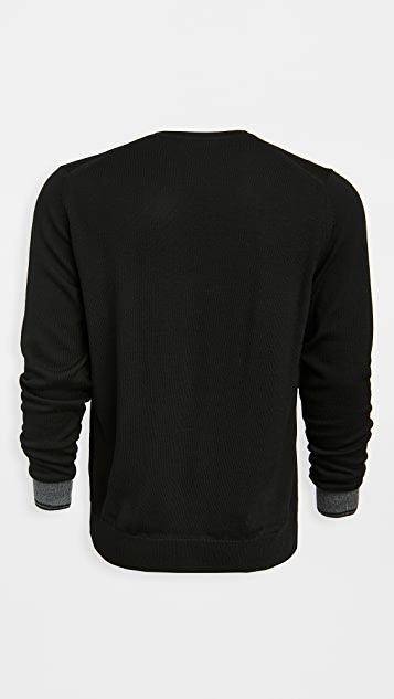 Fred Perry Contrast Cuff Crew Neck Sweater
