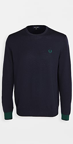 Fred Perry - Contrast Cuff Crew Neck Sweater