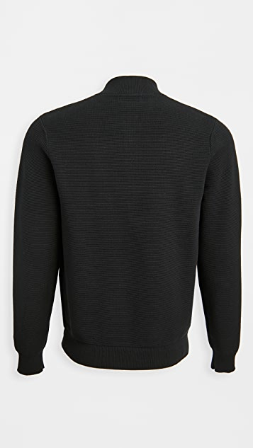 Fred Perry Textured Knitted Bomber Jacket