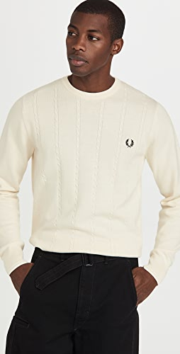 Fred Perry - Cable Knit Crew Neck Sweater