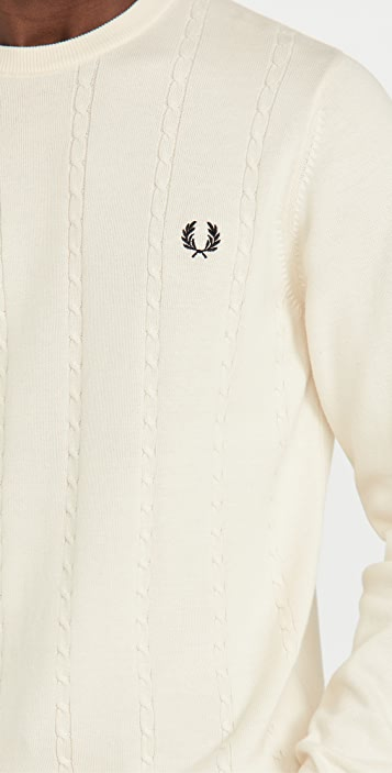 Fred Perry Cable Knit Crew Neck Sweater